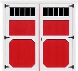 """Double Barn Door w/10""""x29"""" Windows"""