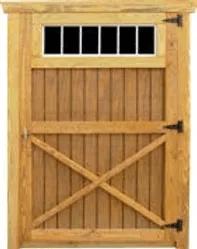 """Single Barn Door w/10""""x35"""" Window"""