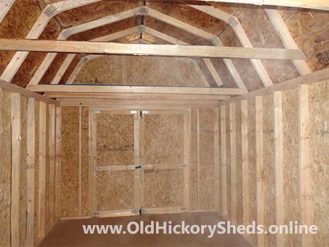 Hickory Sheds Lofted Barn Inside