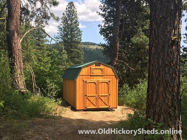 hickory sheds lofted barn big 1 2