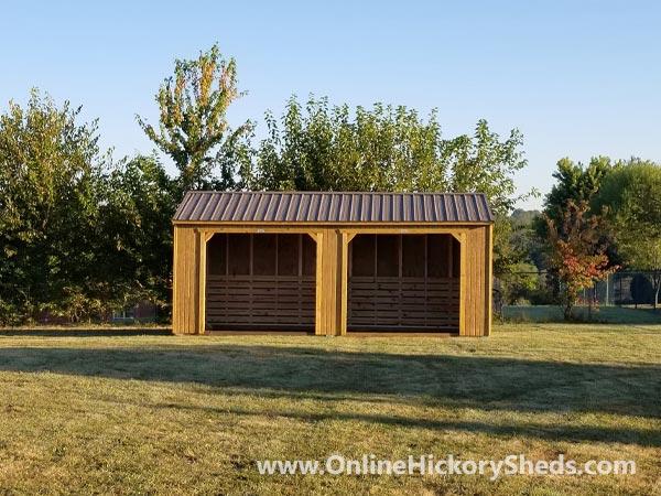 Hickory Sheds Animal Shelter Double Opening