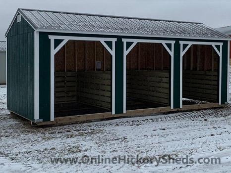 Hickory Sheds Animal Shelter 3 Openings