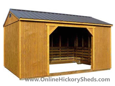 Hickory Sheds Animal Shelter without Tack Room