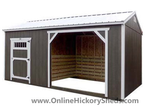 Hickory Sheds Animal Shelter Dark Ebony