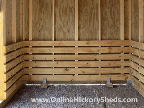 Hickory Sheds Animal Shelter Inside