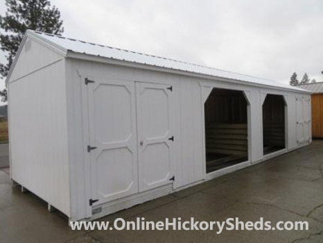 Hickory Sheds Animal Shelter 2 Double Barn Doors 2 Openings