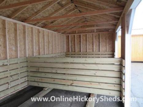 Hickory Sheds Animal Shelter Stalls Inside