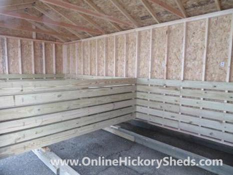 Hickory Sheds Animal Shelter 2 Double Barn Doors Inside