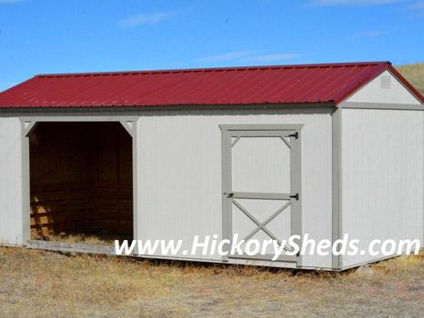 Hickory Sheds Animal Shelter Barn White