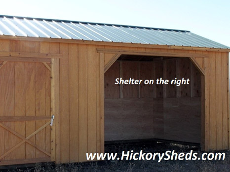 Hickory Sheds Animal Shelter with Shelter Right