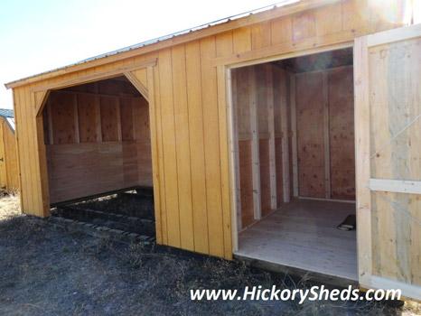 Hickory Sheds Animal Shelter Tack Door Open