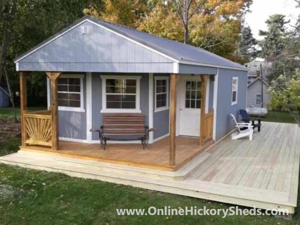 Hickory Sheds Utility Deluxe Porch Painted Gap Gray