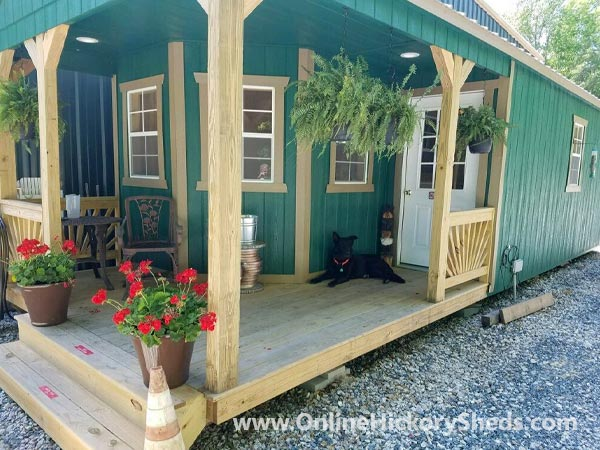 hickory sheds deluxe porch utility big 4