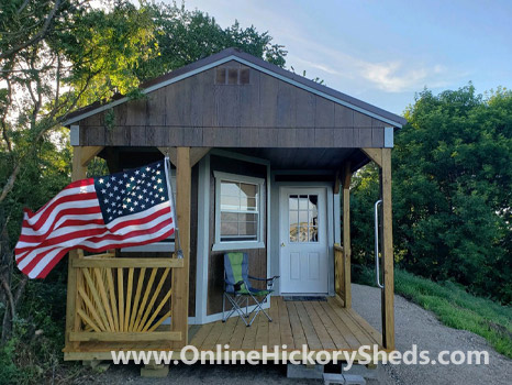 Hickory Sheds Utility Deluxe Porch Inside