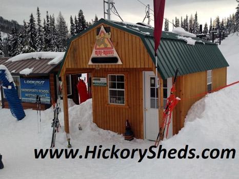 Hickory Sheds Lofted Front Porch Ski Shack