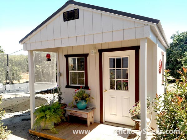 Hickory Sheds Utility Front Porch with Single 9 Lite Door