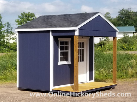Hickory Sheds Utility Front Porch Small with Single Window