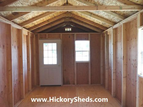 Hickory Sheds Utility Front Porch Inside
