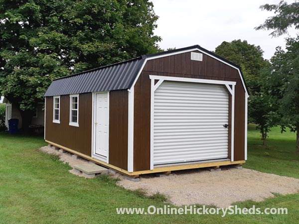 Hickory Sheds Lofted Barn Garage Brown
