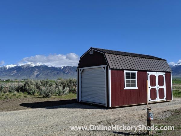 Hickory Sheds Lofted Barn Garage Double Barn Doors