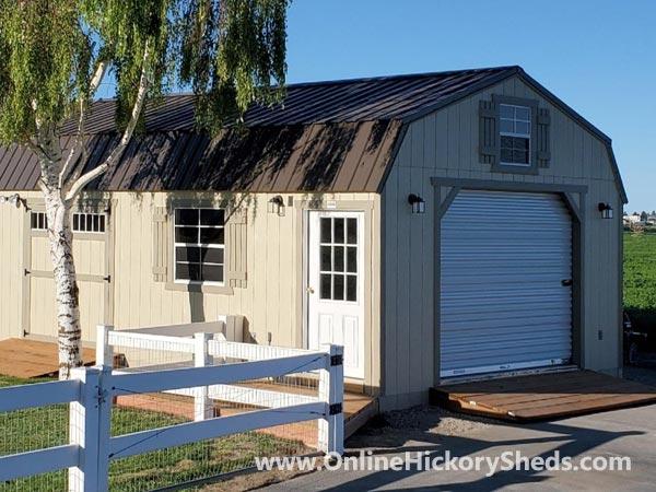 Hickory Sheds Lofted Barn Garage Double Barn Doors Single Door