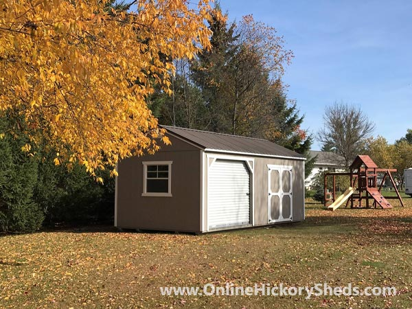 Hickory Sheds Utility Garage Double Barn Doors