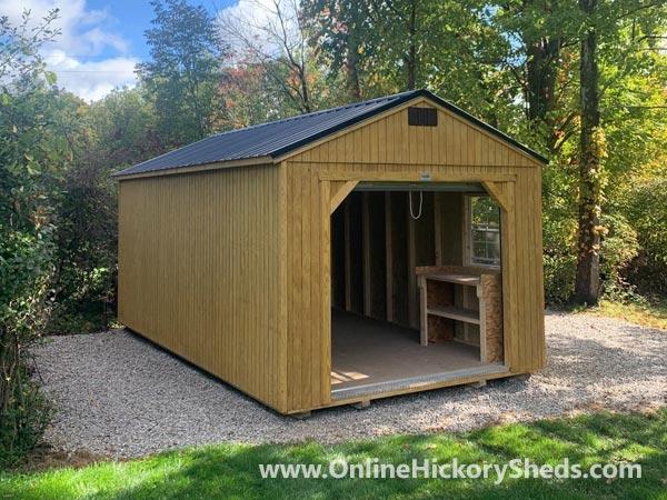 Hickory Sheds Utility Garage Single Garage Door