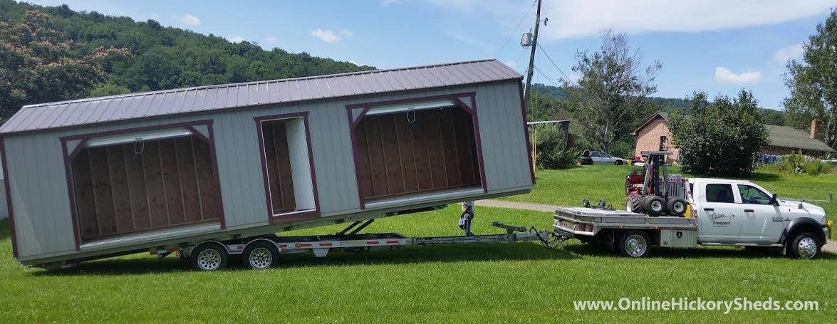 Hickory Sheds Utility Garage Delivery