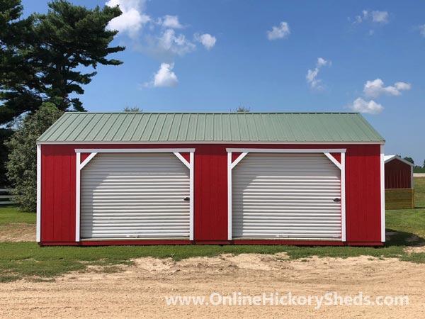 Hickory Sheds Utility Garage Double Garage Doors