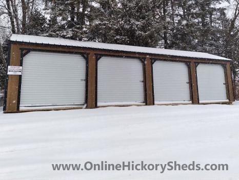 Hickory Sheds Utility Garage 4 Doors