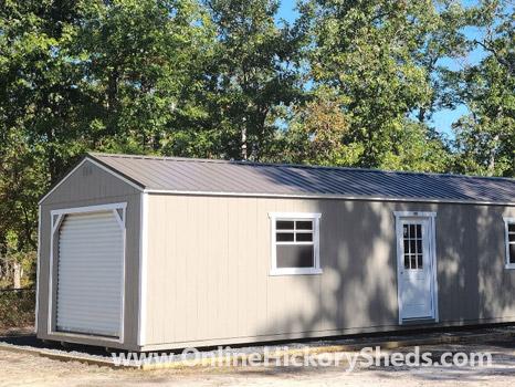 Hickory Sheds Utility Garage Single Door 2 Windows