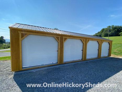 Hickory Sheds Utility Garage 4 Garage Doors