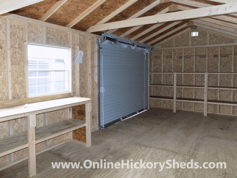 Hickory Sheds Utility Garage Workbench Addition
