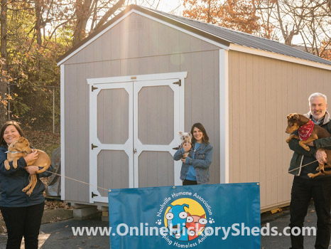 A humane society happy with their new Hickory Shed
