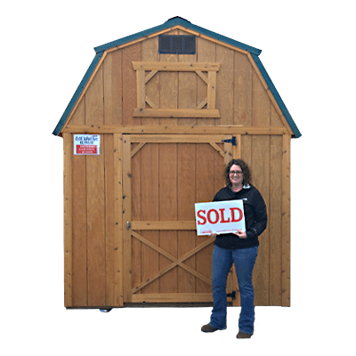 Hickory Sheds Happy Owners