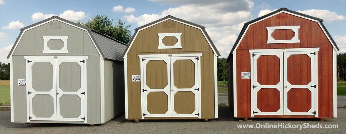Hickory Sheds Lofted Barns