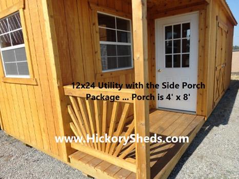 Hickory Sheds Utility Side Porch