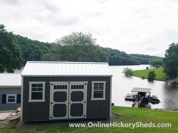 Hickory Sheds Side Utility with 5 Lite Double Barn Doors