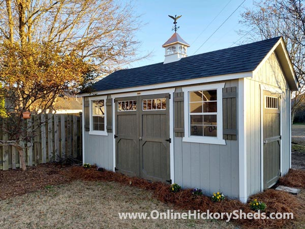 Hickory Sheds Side Utility with Weathervane