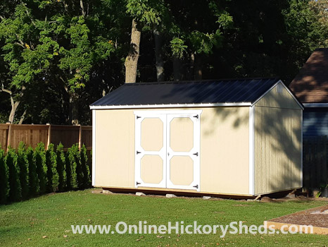 Hickory Sheds Side Utility Shed with Double Barn Doors and No Windows