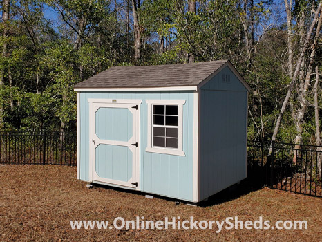 Hickory Sheds Side Utility Shed with Single Barn Door and 1 Window