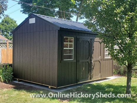 Hickory Sheds Side Utility Shed Painted Brown