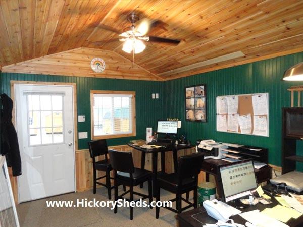 Hickory Sheds Lofted Tiny Room Office