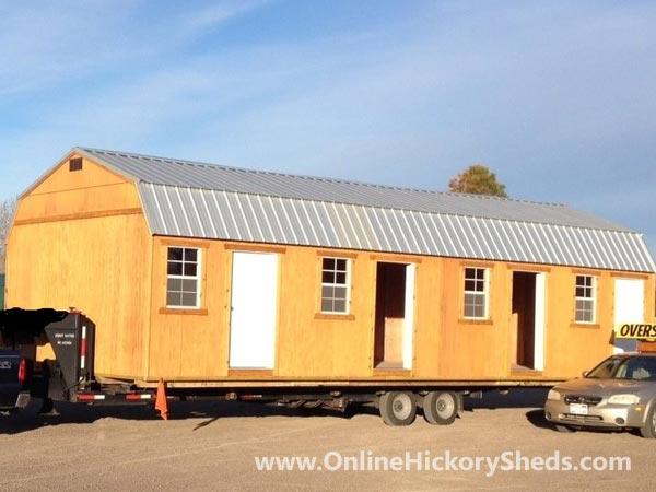 Hickory Sheds Lofted Tiny Room 3 Doors