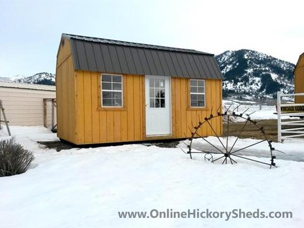 Hickory Sheds Lofted Tiny Room Single Door 2 Windows