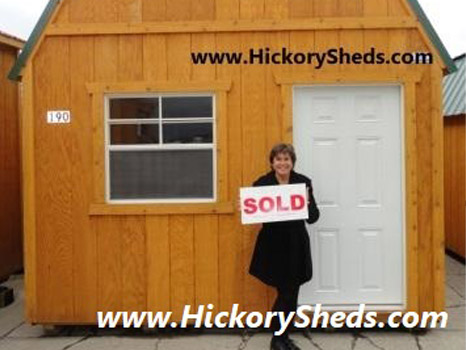 Hickory Sheds Lofted Tiny Room Happy Owner