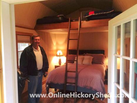 Hickory Sheds Lofted Tiny Room Finished Interior