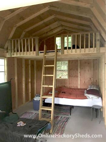 Hickory Sheds Lofted Tiny Room Finished Loft