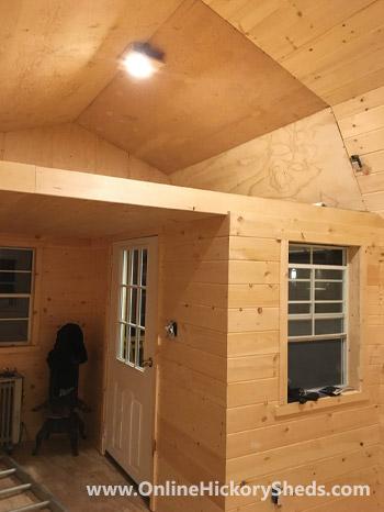 Hickory Sheds Lofted Tiny Room With Loft