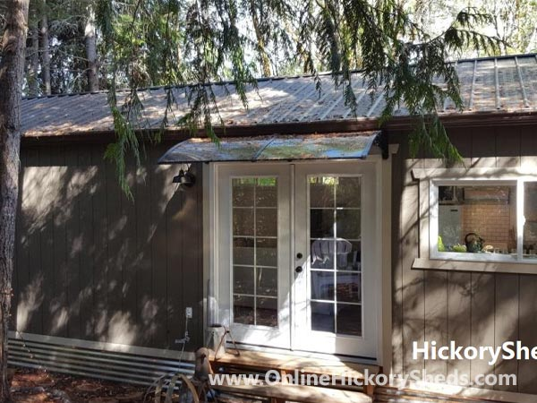 Hickory Sheds Utility Tiny Room French Doors